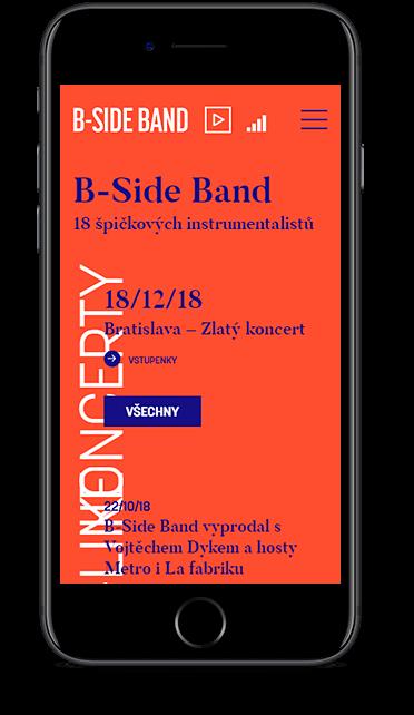Webové stránky B-Side Band