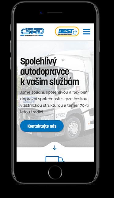Webové stránky ČSAD Brno