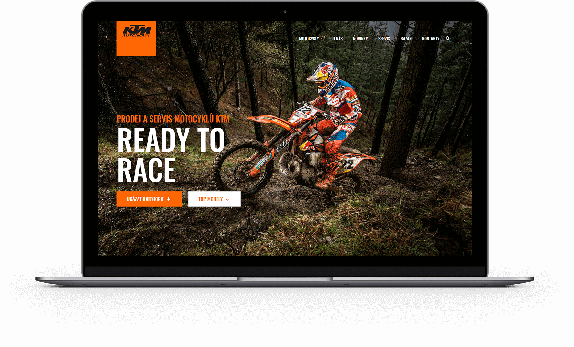 Webové stránky KTM Autonova