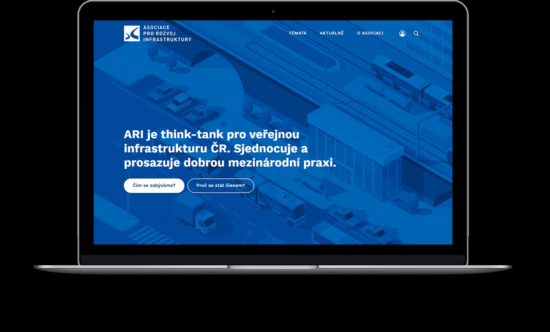 Webové stránky Asociace pro rozvoj infrastruktury