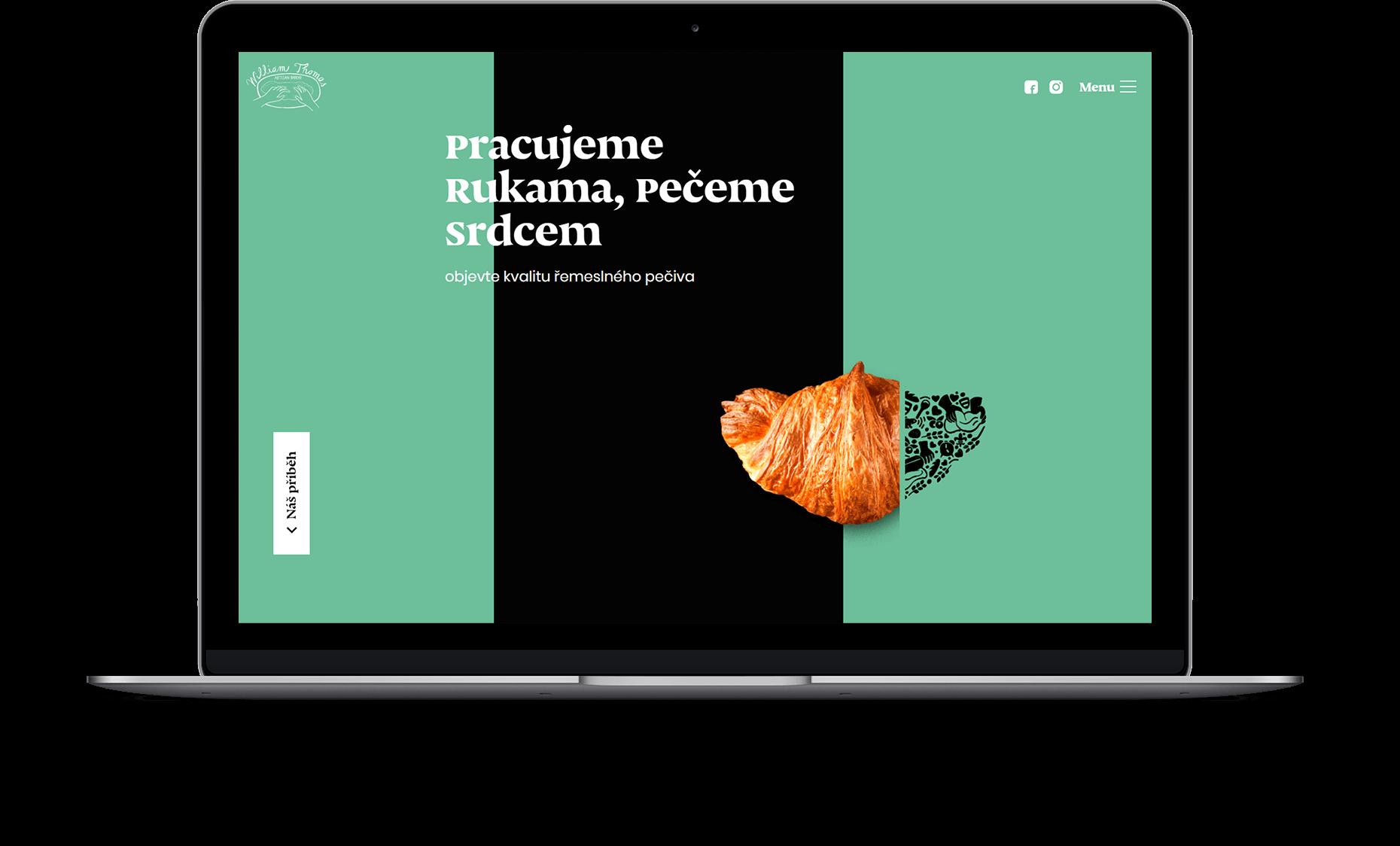 Webové stránky William Thomas Artisan Bakery
